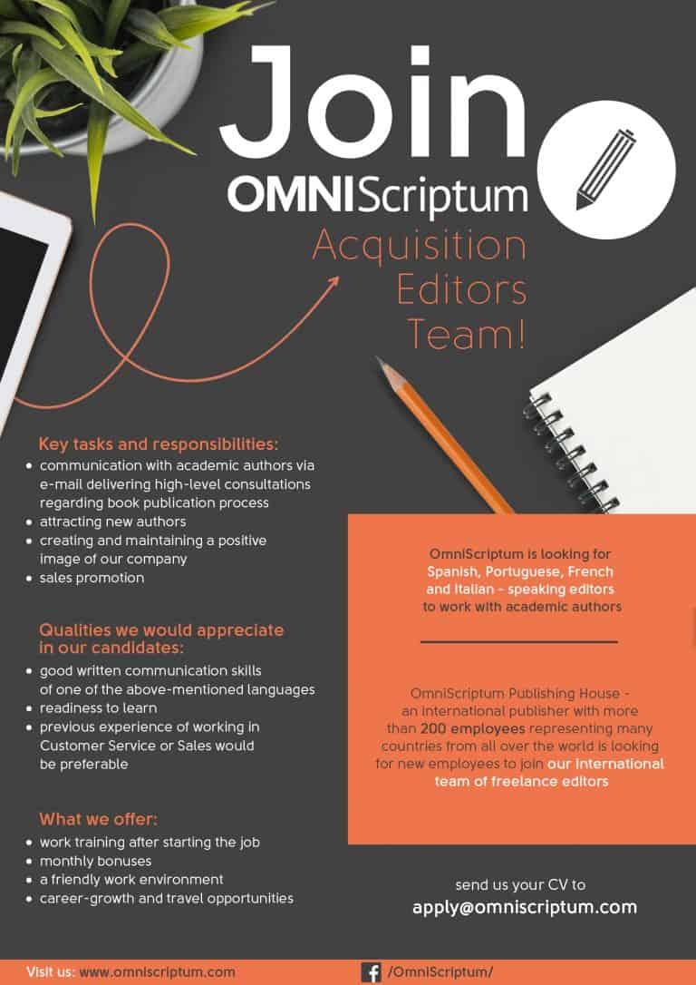 OmniScriptum job ad freelance 768x1086 - Career